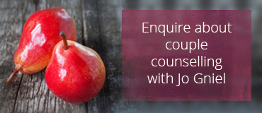 Enquire about couple counselling with Jo Gniel